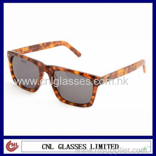 Fashion Acetate Amber Sunglasses