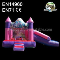 Inflatable Princess Castle with Slide Play Rent