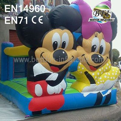 Happy Mickey And Minnie Inflatable Party Bouncer