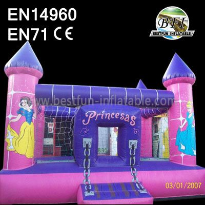 Inflatable Princess Castle and Bouncy Bed