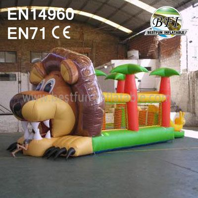 Big Lion Inflatable Bouncer House For Kids Party