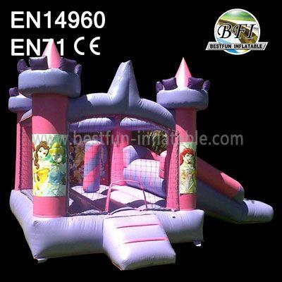 Pink Inflatable Princess Bouncer Combo