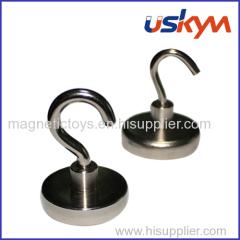 Permanent NdFeB magnetic hook