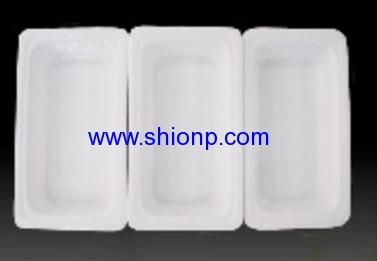 half size porcelain pan
