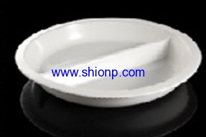Full size divided porcelain pan