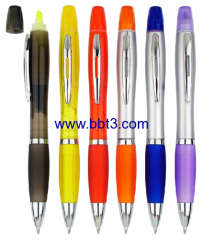 Promotional ballpen with highlighter