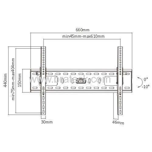 Heavy duty steel tilting Wall Bracket for 37 -70TV