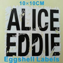 egg shell hard sticker permanent adhesive