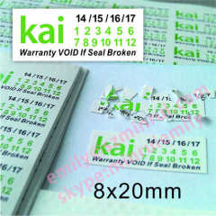 Warranty Dates Destructive Stickers