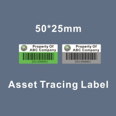 tamper evident asset barcode tracing labels