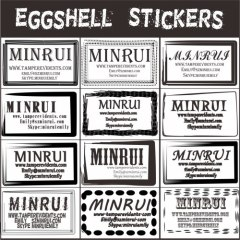 Destructive Security Labels Eggshell