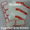 Custom Eggshell Arts Stickers With Red Borders or Without Printing