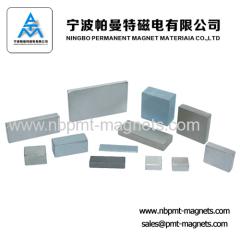 Neodymium Block Magnets with White Zinc Coating