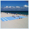 Microfiber suede beach towel with printing