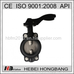 Handle Level Operated CF8M Disc Wafer Butterfly Valve Without Pin