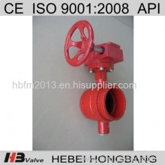 OEM Cast Iron Manual Grooved End butterfly valve