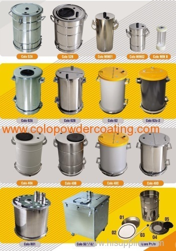 stainless steel Powder container