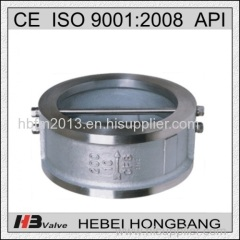 High quality stainless steel check valve wafer butterfly-type check valve