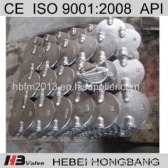 Dual Alxe butterfly valve disc