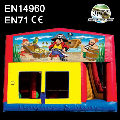 2014 New Pirate Ship Inflatable Castle with Slide