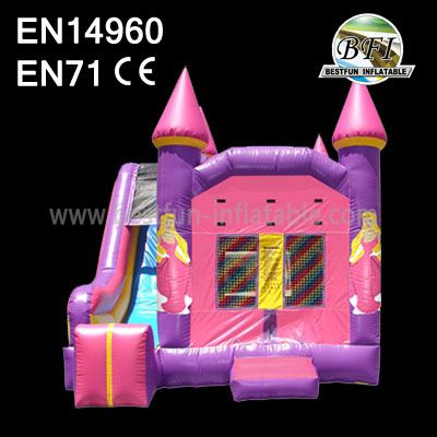 Beautiful Inflatable Princess Castle with Slide For Rentals