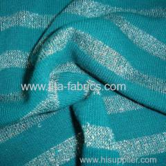Acrylic bright silk striped Jersey