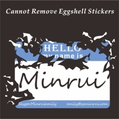 My Name Is Blank Eggshell Sticker