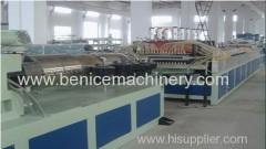 Plastic machinery for pvc window and door profile