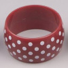 charming and fashion wide plastic bracelet