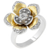 18K gold flower jewelry ring