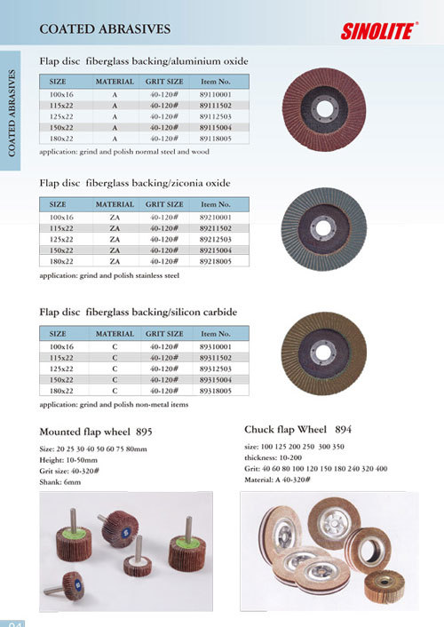 Coated abrasives flap disc and flap wheel
