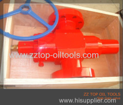 API 6A oilfield high pressure manual gate valve