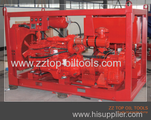 well surface testing transfer pump