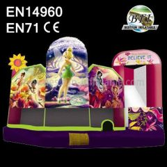Inflatable Elfins Garden Jumping Castle Combo for Party