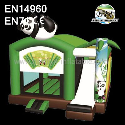Lovely Panda Inflatable Zone Jumping Bed and Slide for Kids