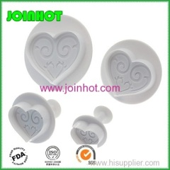 Heart shaped flower Cake Plunger Cutter Cake Decoration Mold