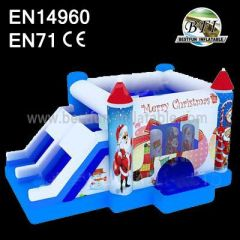 2014 New Merry Christmas Santa Inflatable Castle Combo