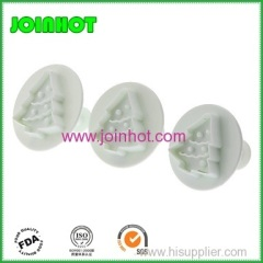 christmas tree shaped fondant cake plunger cutters Cookie Stamp Pine Shape Decoration Mold