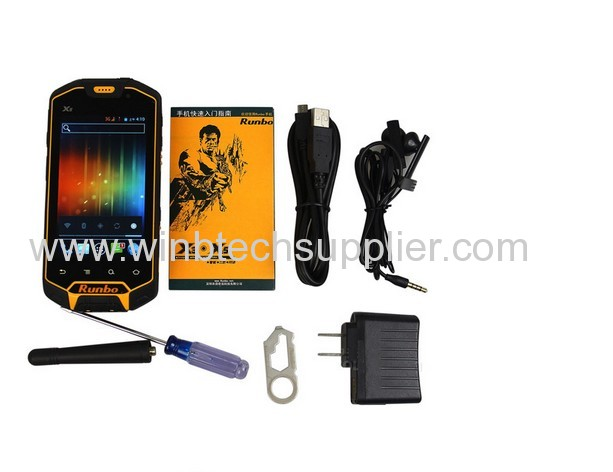 MTK6577 IP67 Waterproof Dustproof Shockproof IPS Gorilla glass Capacitive screen GPS rugged phone