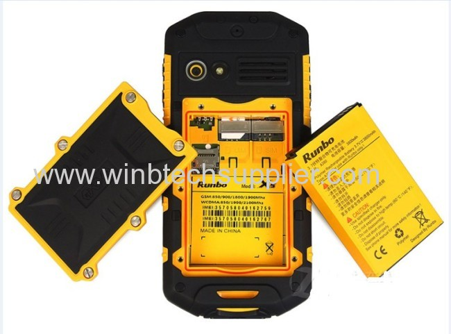 RunboMTK6577 IP67 Waterproof Dustproof Shockproof IPS Gorilla glass Capacitive screen GPS rugged phone