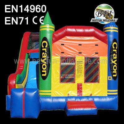 inflatable slide bounce combo