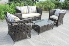 4 seater sofa Garden rattan furniture patio lounge set