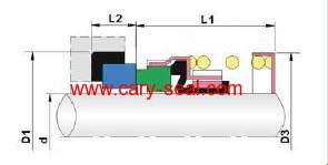 Elastomer Bellow mechanical Seals BIA
