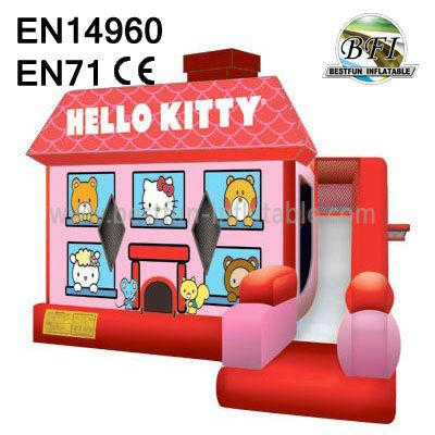 Cute Inflatable Hello Kitty Bouncy Combo