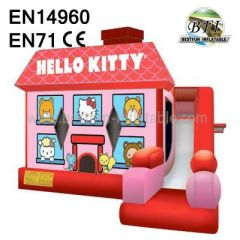 Cute Inflatable Hello Kitty Bouncy Combo for Kids