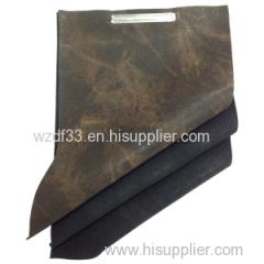 new printed yangbuck pu leather