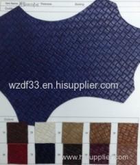 big weave design pu leather