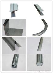 Garage door parts / garage door track, shaft and profile
