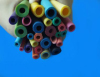 Good insulation oil-retardant and fire-retardant colored silicone tubings,multicoloured tubes