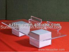Acrylic plastic slatwall shoe shelves